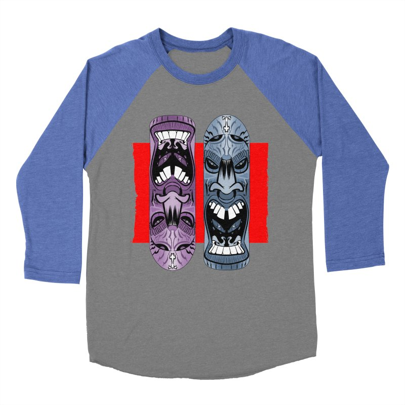 Flipside Women's Baseball Triblend T-Shirt by Krishna Designs