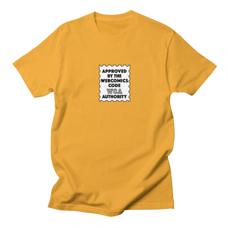 The Webcomics Code Authority in Men's T-shirt Gold by Krishna Designs