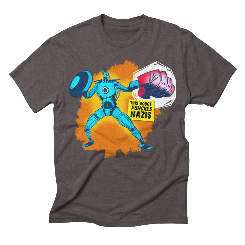 This Robot Punches Men's Triblend T-shirt by Krishna Designs