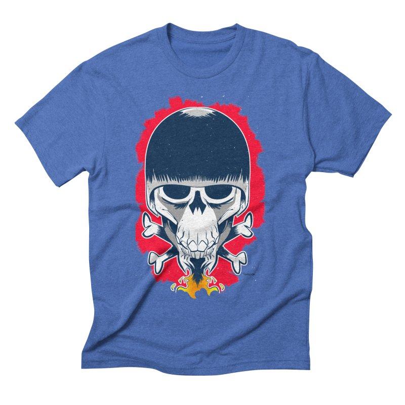 Motor Skull Men's Triblend T-shirt by Krishna Designs