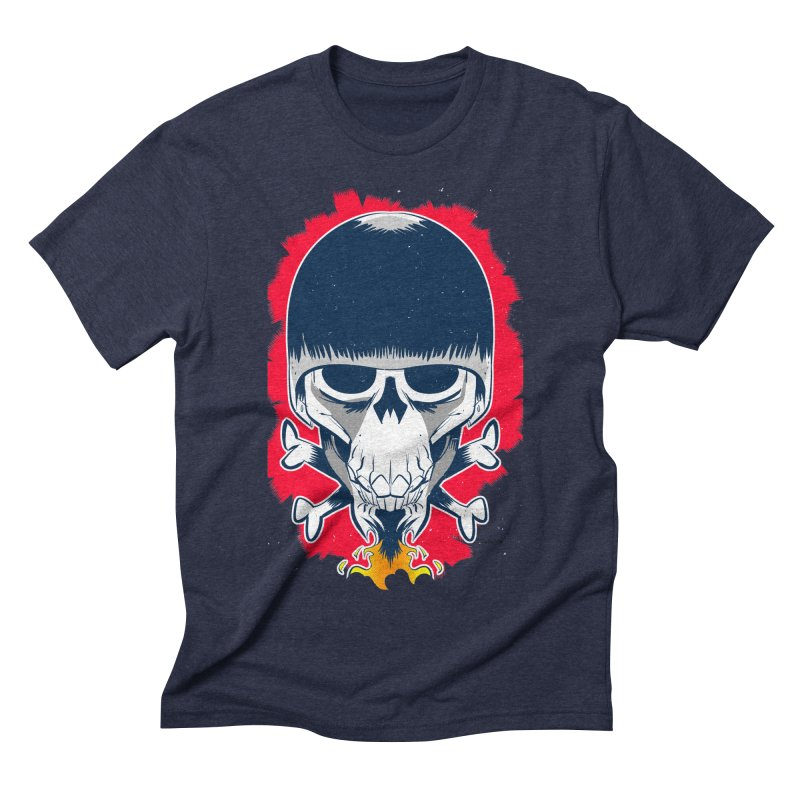 Motor Skull Men's Triblend T-shirt by Krishna Designs