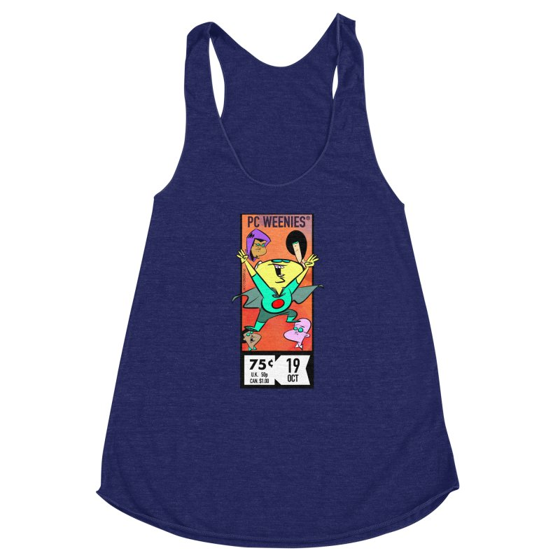 PCW corner box Women's Racerback Triblend Tank by Krishna Designs
