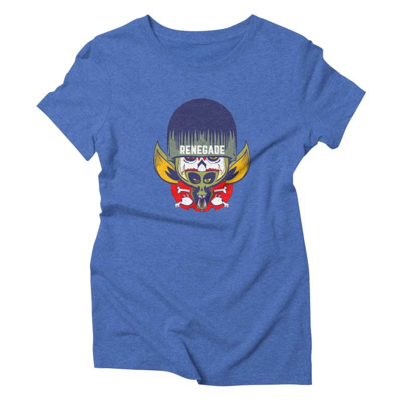 Renegade Women's Triblend T-shirt by Krishna Designs