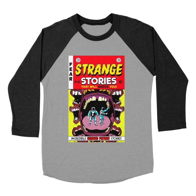 Strange Stories Men's Baseball Triblend T-Shirt by Krishna Designs