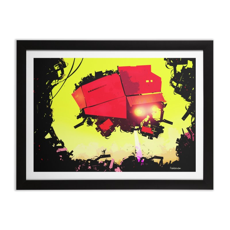 Alien Disintegration in Framed Fine Art Print Black by Krishna Designs