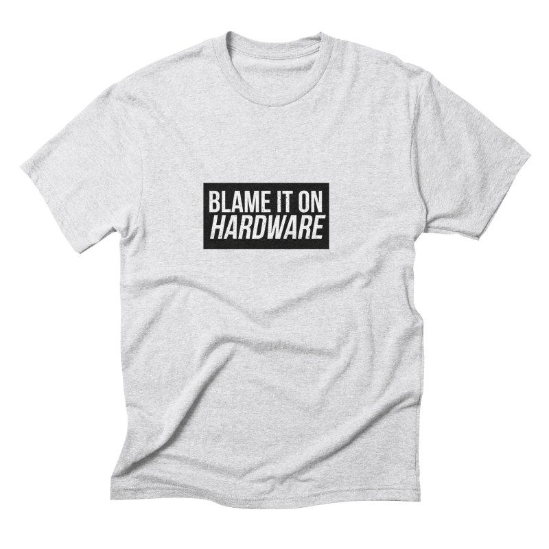 Blame it on Hardware Men's Triblend T-Shirt by Krishna Designs