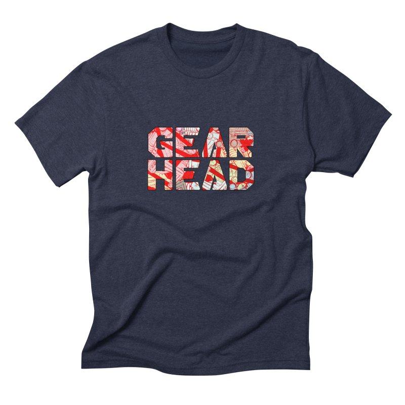 Gear Head Men's Triblend T-Shirt by Krishna Designs
