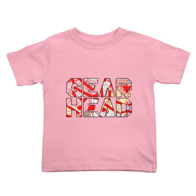 Gear Head Kids Toddler T-Shirt by Krishna Designs