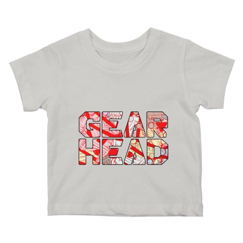 Gear Head Kids Baby T-Shirt by Krishna Designs