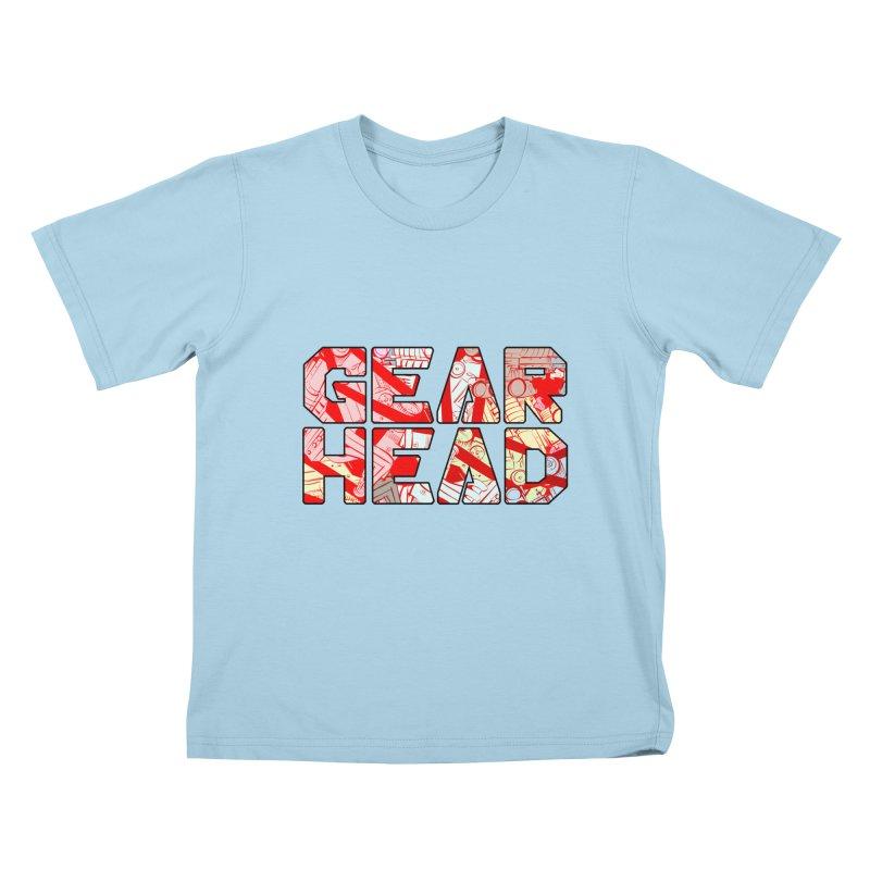 Gear Head Kids T-Shirt by Krishna Designs