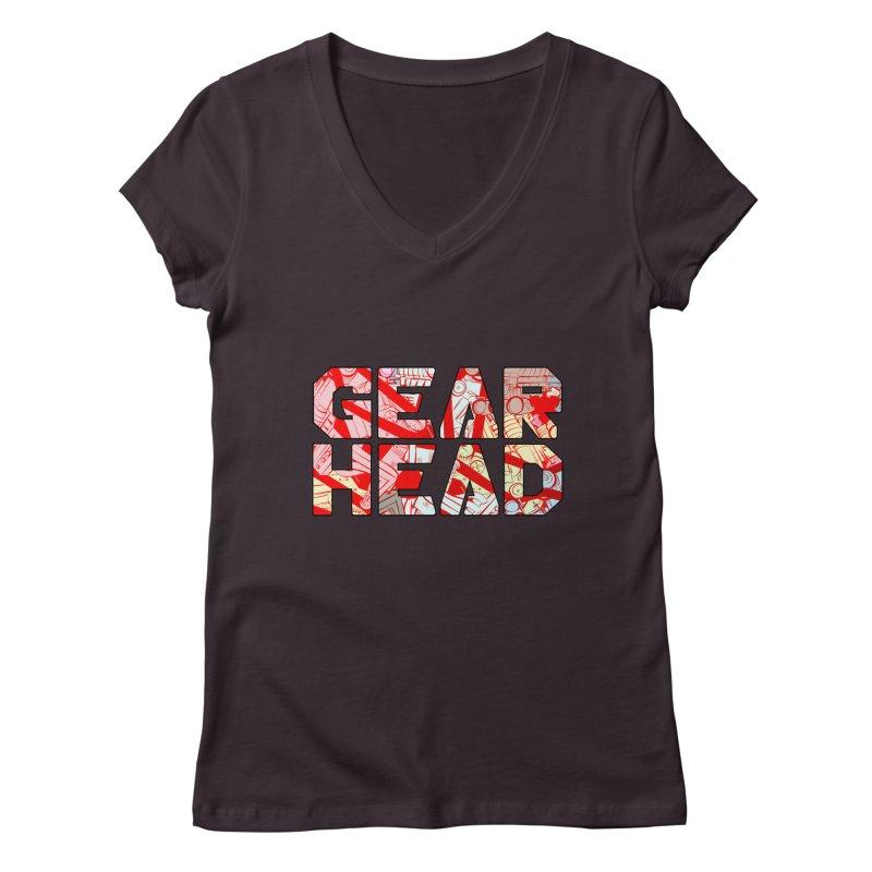 Gear Head Women's V-Neck by Krishna Designs