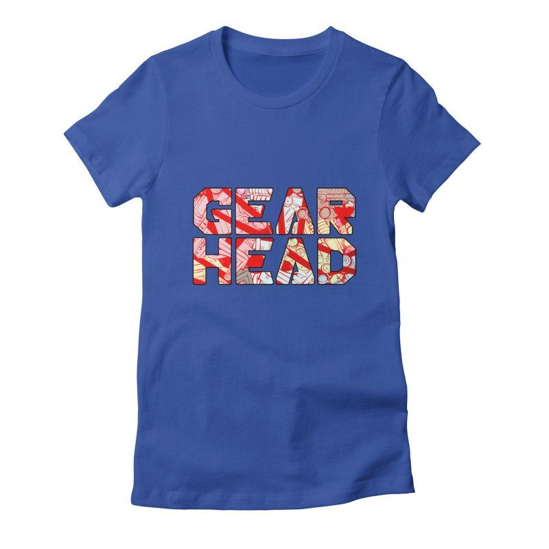 Gear Head Women's Fitted T-Shirt by Krishna Designs