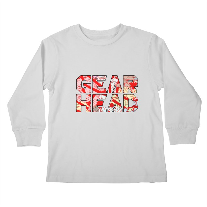 Gear Head Kids Longsleeve T-Shirt by Krishna Designs