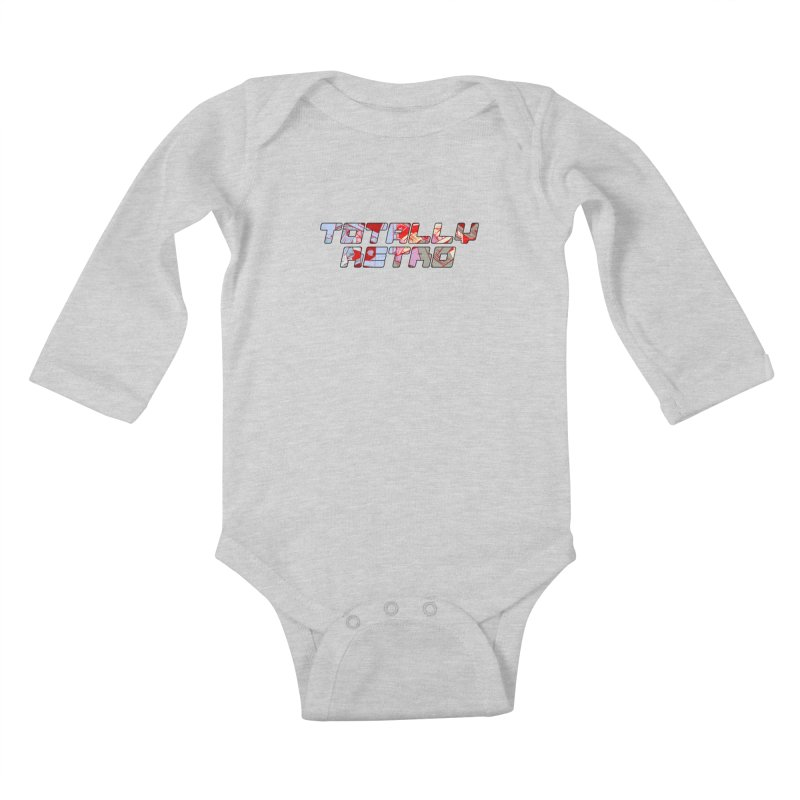 Totally Retro Kids Baby Longsleeve Bodysuit by Krishna Designs