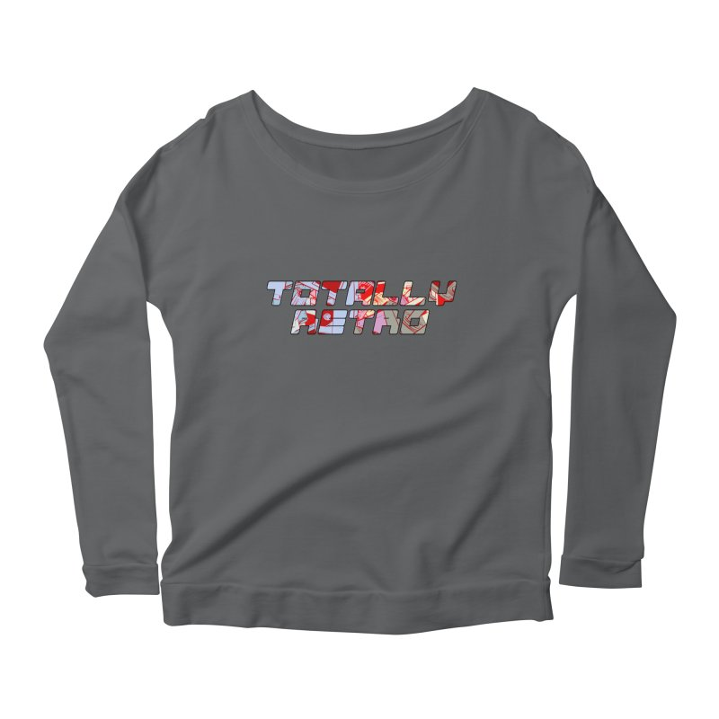 Totally Retro Women's Longsleeve Scoopneck  by Krishna Designs