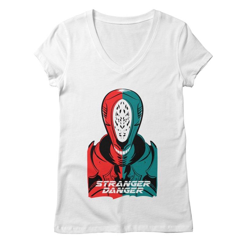 Stranger Danger Women's Regular V-Neck by Krishna Designs