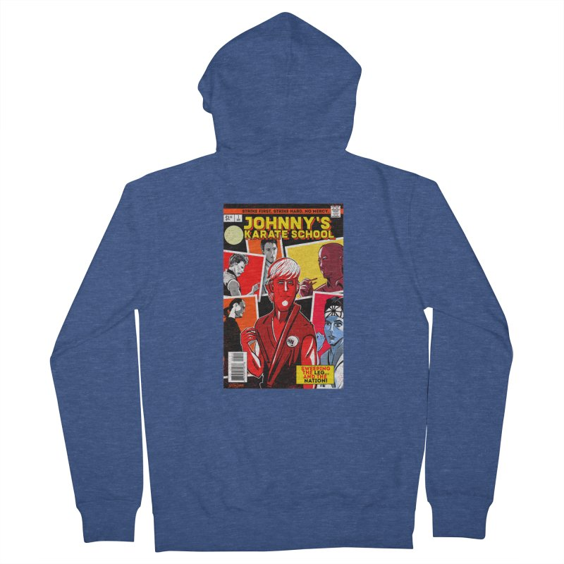 Johnny's Karate School Men's French Terry Zip-Up Hoody by Krishna Designs