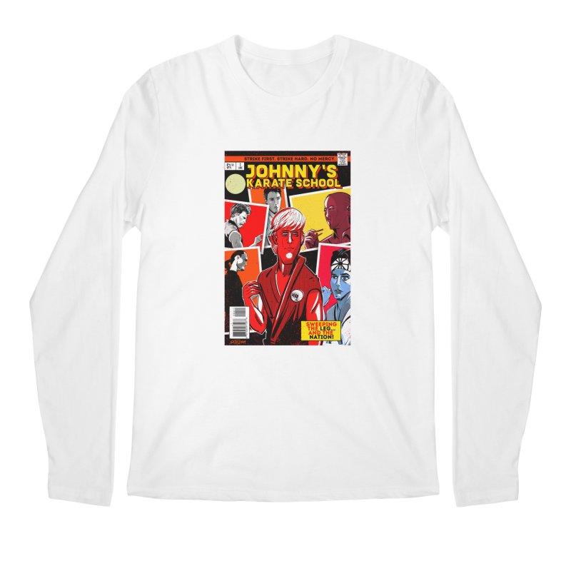 Johnny's Karate School Men's Regular Longsleeve T-Shirt by Krishna Designs