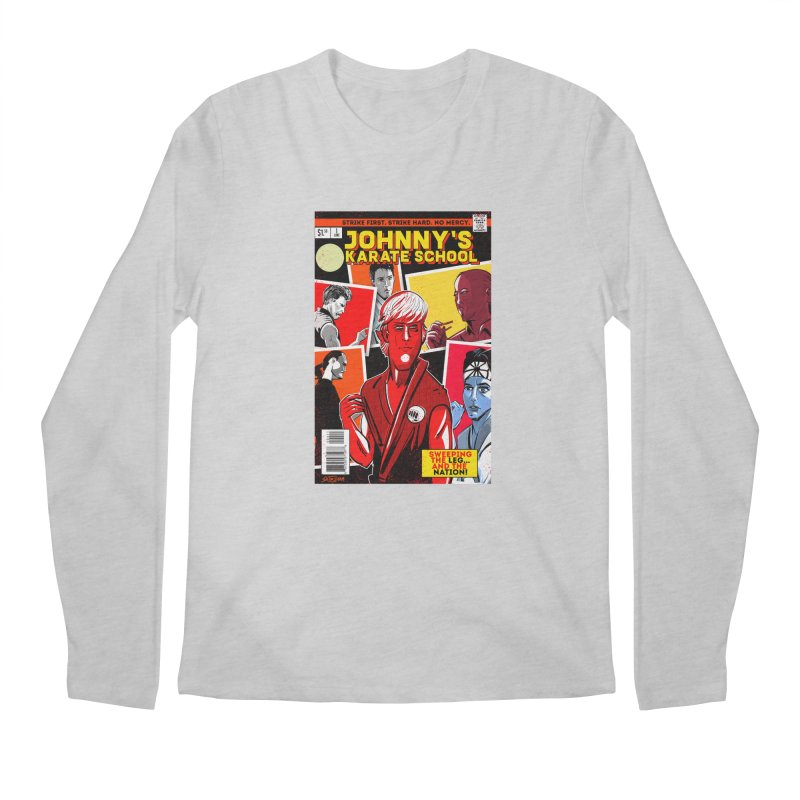 Johnny's Karate School Men's Regular Longsleeve T-Shirt by Krishna Designs