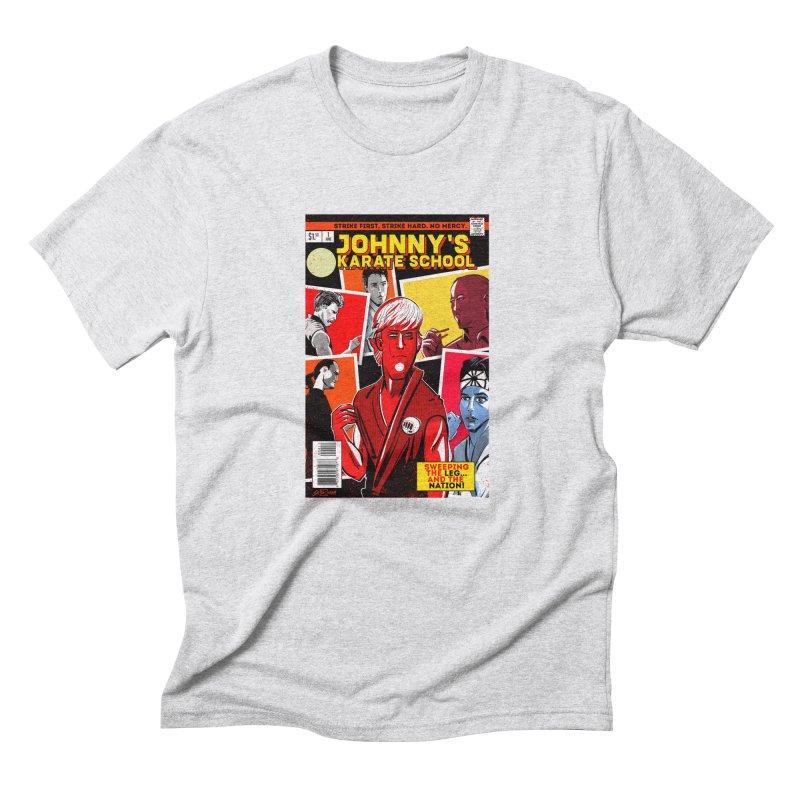 Johnny's Karate School Men's Triblend T-Shirt by Krishna Designs