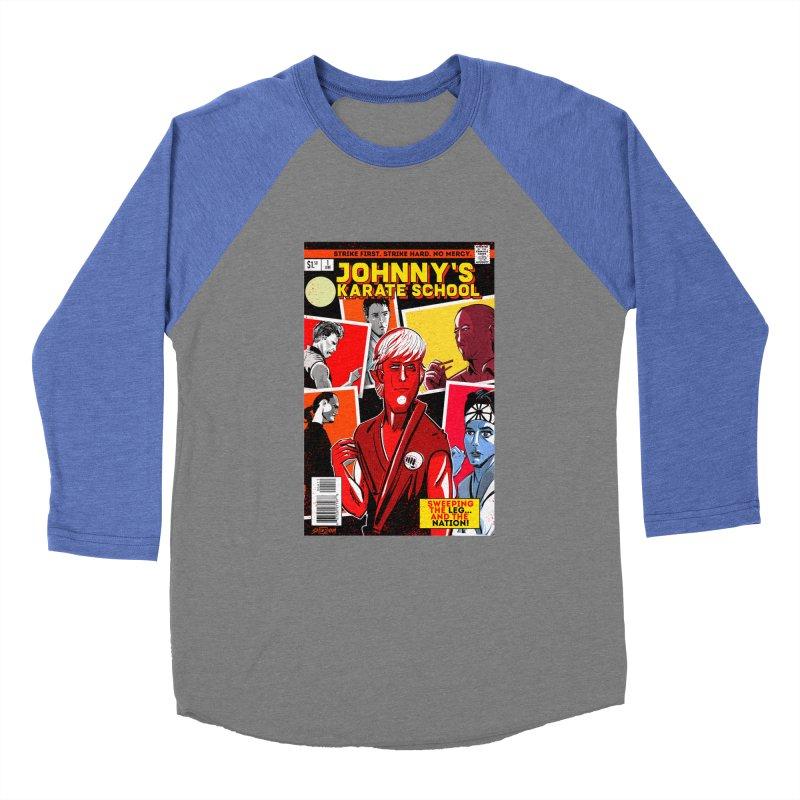 Johnny's Karate School Women's Baseball Triblend Longsleeve T-Shirt by Krishna Designs
