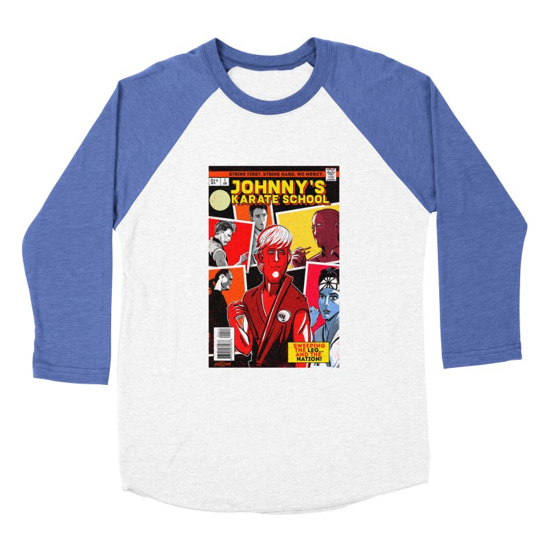 Johnny's Karate School Men's Baseball Triblend Longsleeve T-Shirt by Krishna Designs