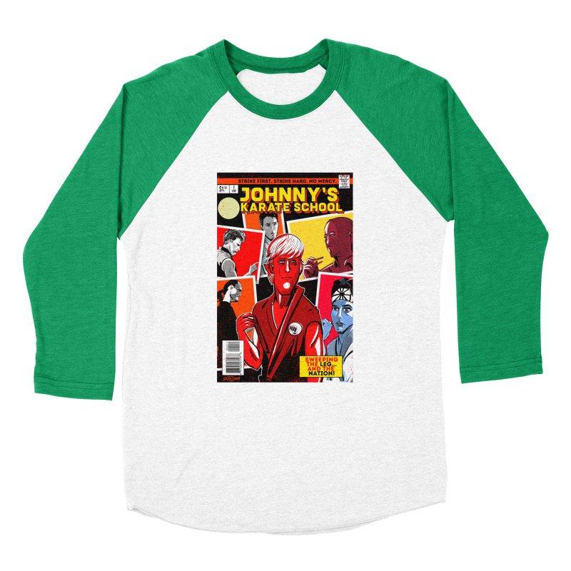 Johnny's Karate School Men's Baseball Triblend Longsleeve T-Shirt by Krishna Designs