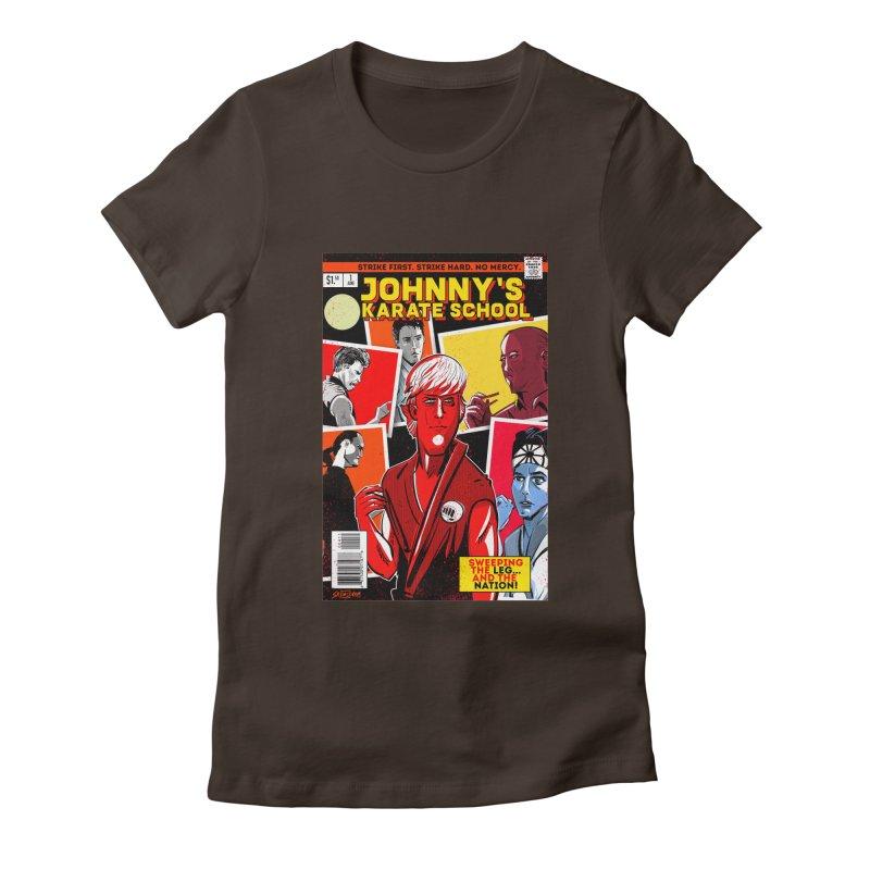 Johnny's Karate School Women's Fitted T-Shirt by Krishna Designs