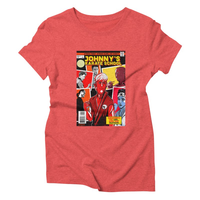 Johnny's Karate School Women's Triblend T-Shirt by Krishna Designs
