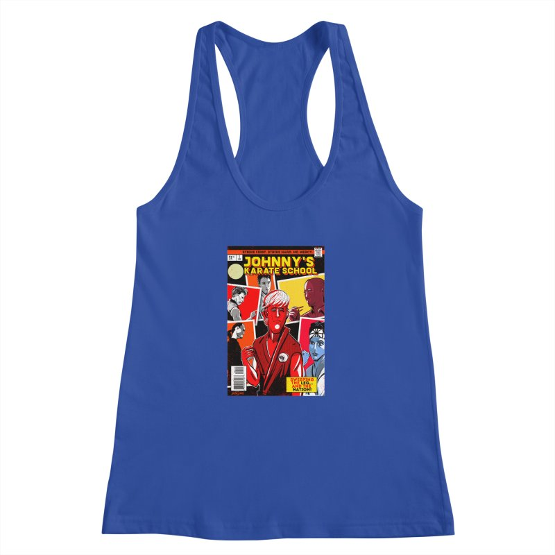 Johnny's Karate School Women's Racerback Tank by Krishna Designs