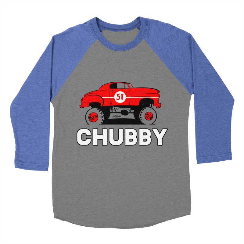 Chubby Men's Baseball Triblend Longsleeve T-Shirt by Krishna Designs