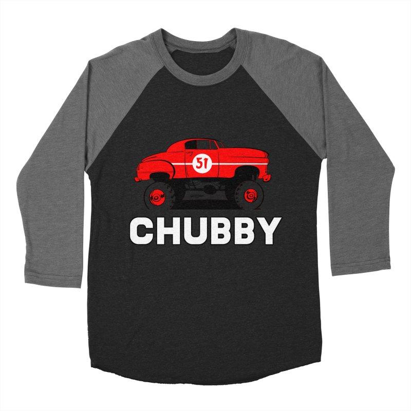 Chubby Men's Baseball Triblend Longsleeve T-Shirt by Krishna Designs