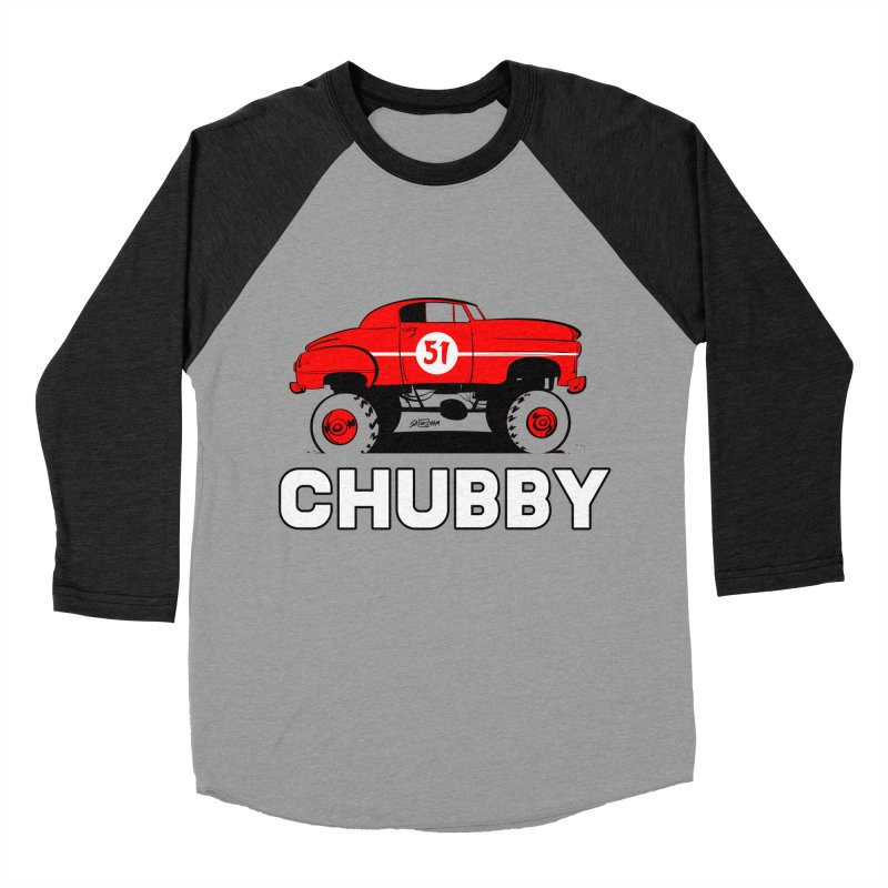 Chubby Men's Baseball Triblend T-Shirt by Krishna Designs