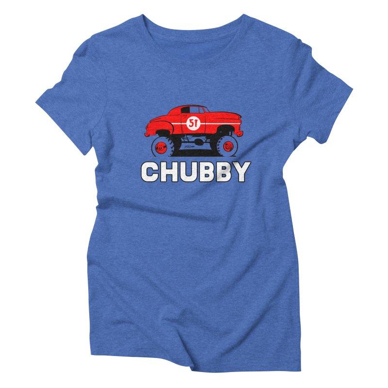 Chubby Women's Triblend T-Shirt by Krishna Designs