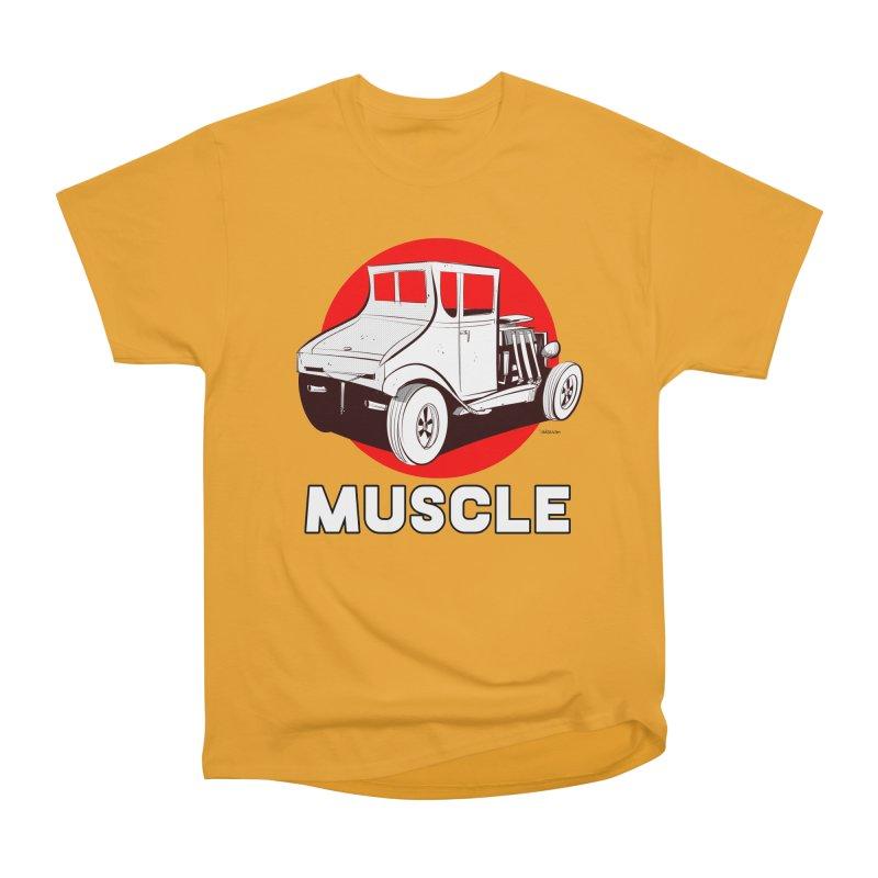 Muscle Men's Heavyweight T-Shirt by Krishna Designs