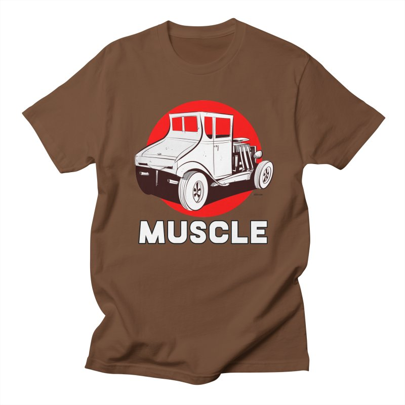 Muscle Men's Regular T-Shirt by Krishna Designs