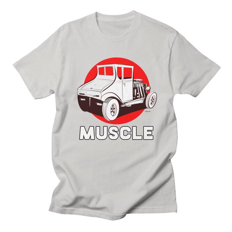 Muscle Men's Regular T-Shirt by Krishna Designs