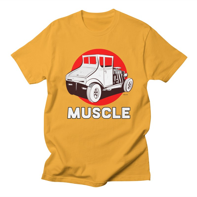 Muscle Women's Regular Unisex T-Shirt by Krishna Designs