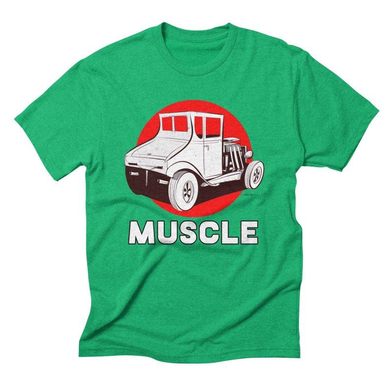 Muscle Men's Triblend T-Shirt by Krishna Designs