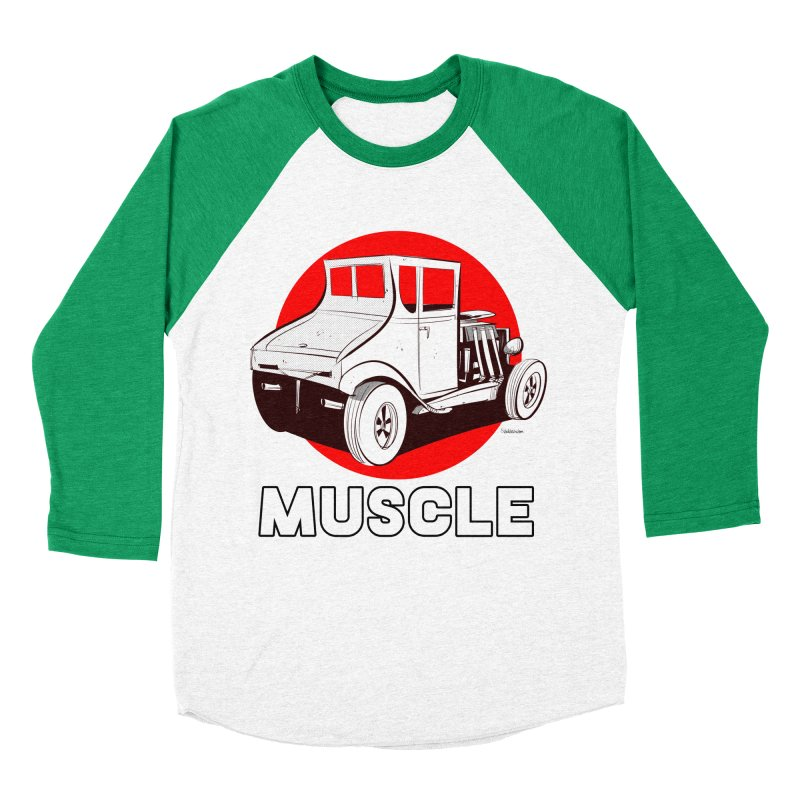 Muscle Women's Baseball Triblend Longsleeve T-Shirt by Krishna Designs