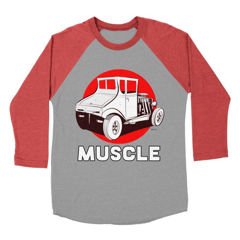 Muscle Men's Baseball Triblend Longsleeve T-Shirt by Krishna Designs