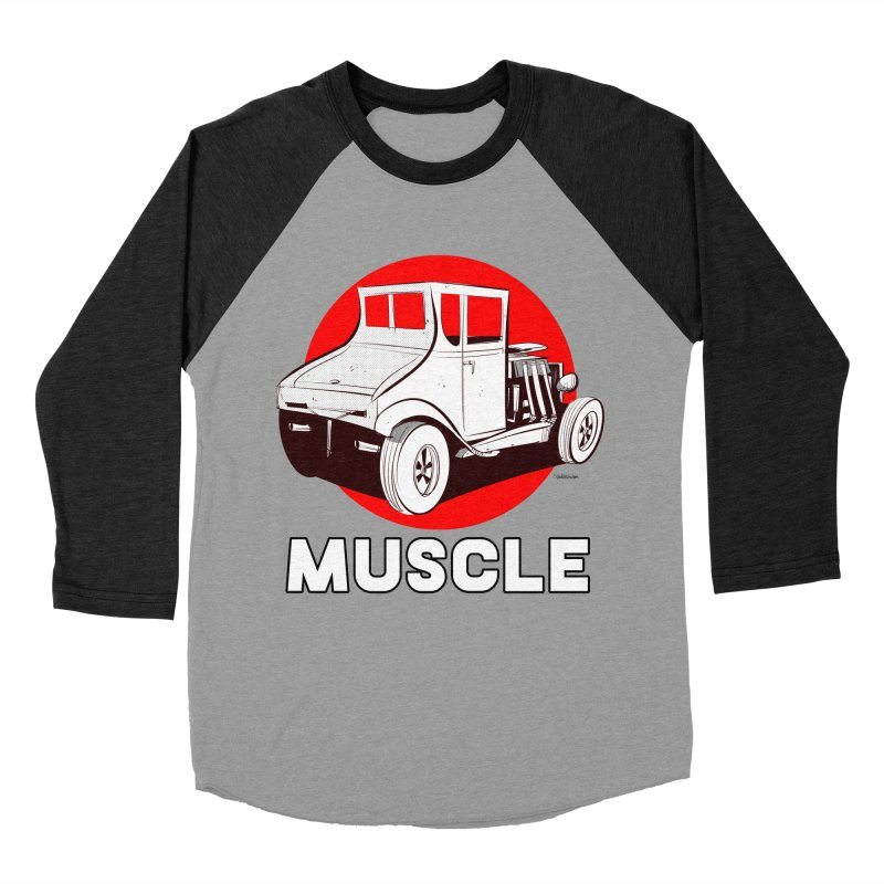 Muscle Men's Baseball Triblend T-Shirt by Krishna Designs