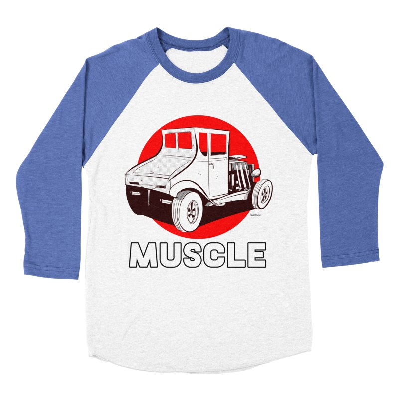 Muscle Men's Baseball Triblend Longsleeve T-Shirt by Krishna Designs