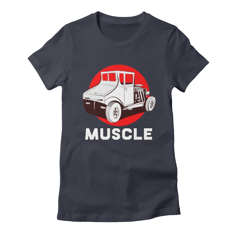 Muscle Women's Fitted T-Shirt by Krishna Designs