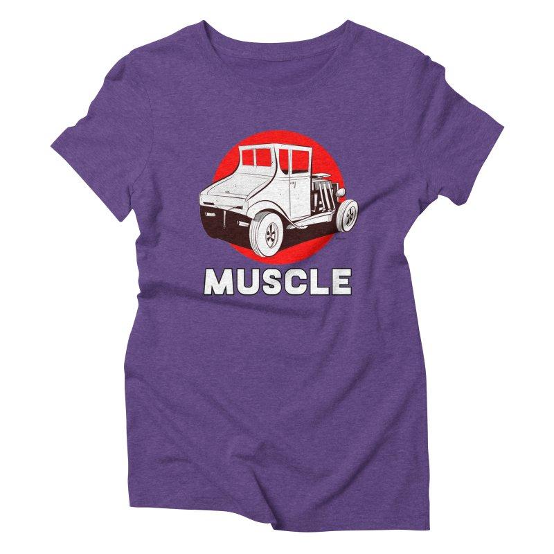 Muscle Women's Triblend T-Shirt by Krishna Designs