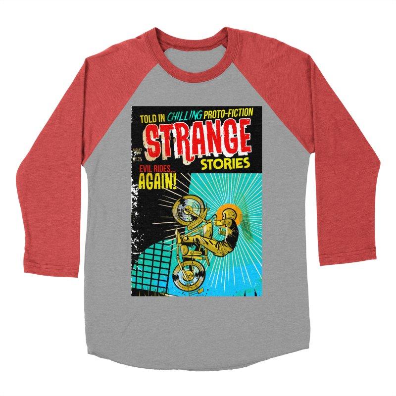 Strange Stories Men's Baseball Triblend Longsleeve T-Shirt by Krishna Designs