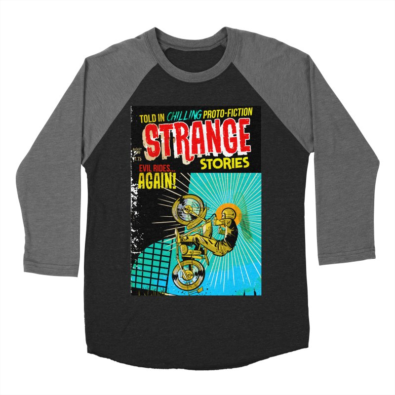 Strange Stories Men's Baseball Triblend Longsleeve T-Shirt by Krishna Designs