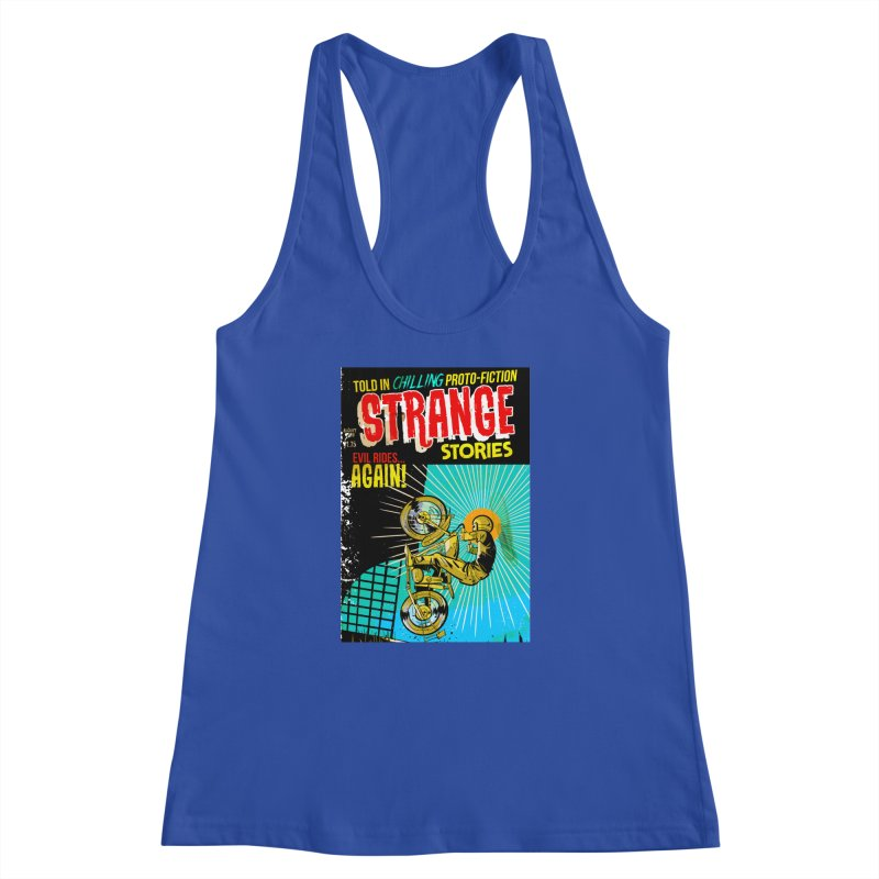 Strange Stories Women's Racerback Tank by Krishna Designs