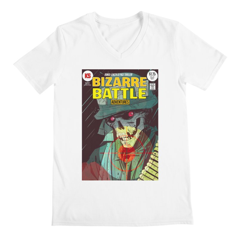 Bizarre Battle Adventures Cover art Men's V-Neck by Krishna Designs