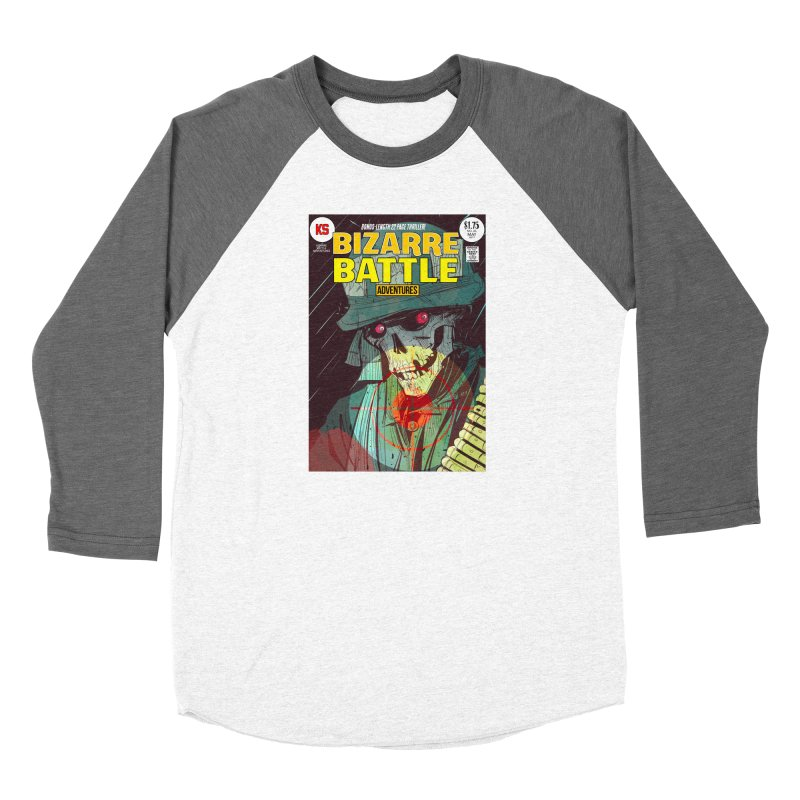 Bizarre Battle Adventures Cover art Men's Baseball Triblend Longsleeve T-Shirt by Krishna Designs